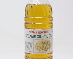 Pure sesame oil til ka tel cold pressed 1 liter brand seema govind