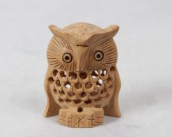 Owl wooden jali cutting