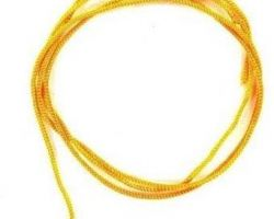 Yellow silk thread peela reshmi dhaga 20 meter