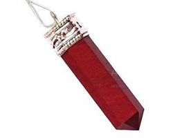 Red jasper pencil pendant