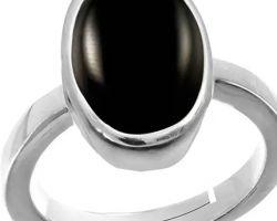 Black onyx ring silver