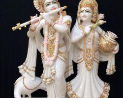 Krishna Radha marble murti  marble idol of Radha krishana