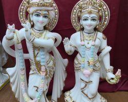 Yugal murti Radha krishan in marble stone