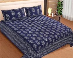 Block print bedsheet double bed king size