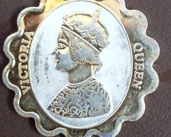 Silver coin Victoria coin