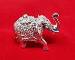Chandi ka thos hathi solid silver elephant 50gm