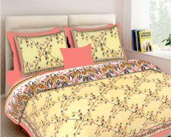 Jaipuri sanganeri bedsheet cotton bedsheet double bed