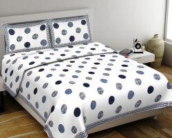 Cotton bedsheet double bed king size jaipuri print