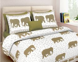 Sanganeri bedsheets double bed pure cotton