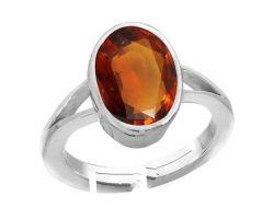 Gomed ring in silver hessonite garnet ring