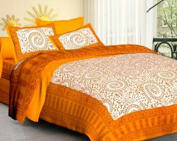 Bedsheet double bed cotton with pillow code 3