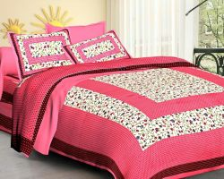 Cotton bedsheet double bed with pillow code 4