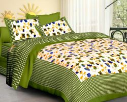 Cotton bedsheet double bed with pillow code 6