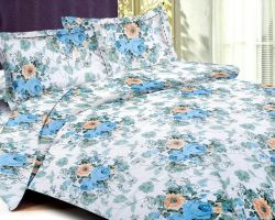 Cotton bedsheet double bed with pillow code 7