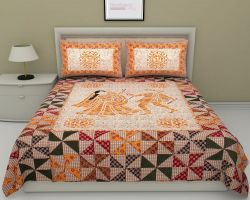 Cotton bedsheet double bed with pillow code 11
