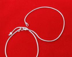 Silver Anklet chandi ki payal  code 1