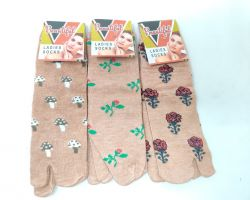Ladies cotton winter socks set of 3