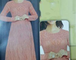 Long woolen gown kurti code 6