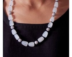 White stone necklace  A