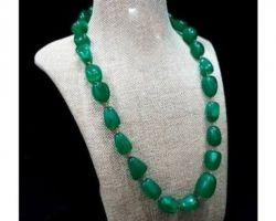 Green  aventurine stone necklace A