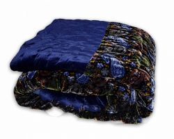 Jaipuri rajai velvet  quilt shaneel ki rajai single bed blue