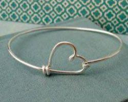 Silver bangle heat design chandi ka kada