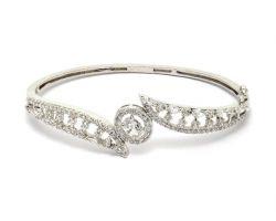 Silver bangle with jerkin work chandi ka kada jerkin diamond