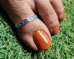 Foot thumb ring silver feet thumb ring  single A