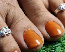 Chandi ka bichhiya silver toe ring ball design