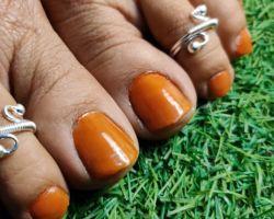 Silver toe ring nurani