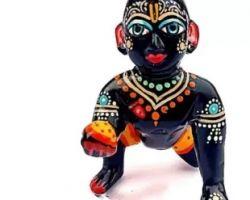 Laddu gopal vigrah black laddu gopal idol, laddu gopal ki kali murti 3No.