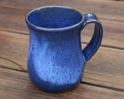 Blue pottery mug ceramic coffee cup blue pottery glace work coffee cup