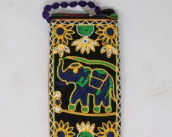 Handmade mobile pouch virasat