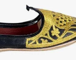 Handmade juti for men beautiful embroedry handmade Royal juti yellow