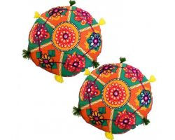 Cussion with cover rajasthani round cussion with cover set of 2