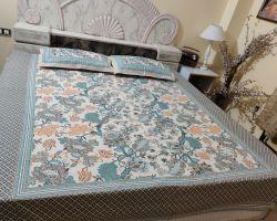 Bedsheet block print jaipuri bedsheet double bed najakat