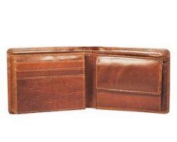 Camel leather wallet for men decent