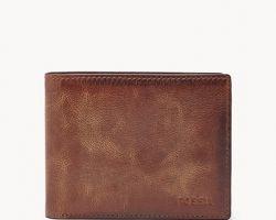 Leather wallet for men camel leather wallet royal