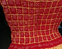 Bandhej saree in gharchola design red gharchola bandhej saree