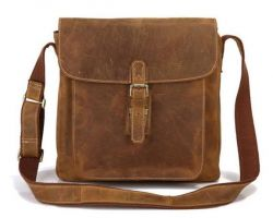 Camel leather bag hunt