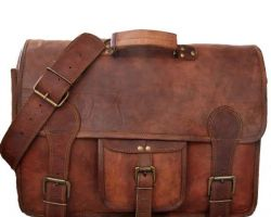 Camel leather shoulder bag handmade bag rutba