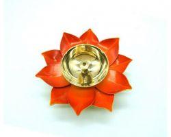 Brass lotus diya red peetal ka kamal Deepak
