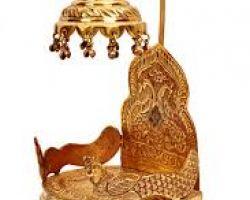 Bhagwan ka singhasan brass idol singhasan  with chhatra shahi