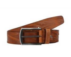 Men's camel leather belt style