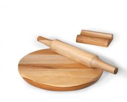 Chakla belan neem wood pastry board and roller