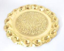 Beautiful brass Pooja plate peetal ki pooja thali