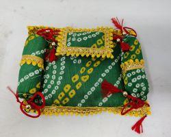 Laddu gopal mattress cum rajai set bandhej mattress with pillow