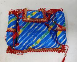 Laddu gopal mattress cum blanket with pillow Lahariya design mattress