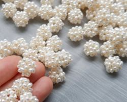 Natural freshwater pearl cluster white pearl balls 10 piece