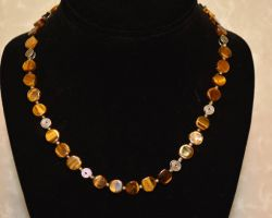 Necklace tiger eye natural necklace
